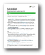 FAFSA Checklist